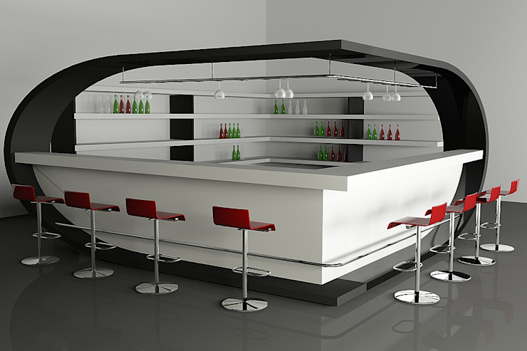 Bar Counter Commercial space by homify