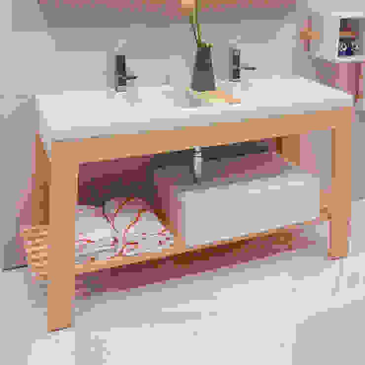 Bath Table di krayms A&D - Fa&Fra Minimalista Legno massello Variopinto