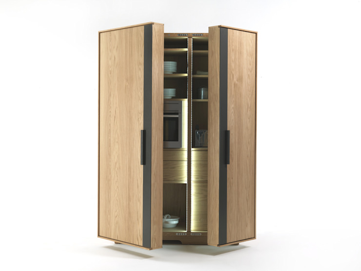 de Cappelletti Architetti Moderno Madera Acabado en madera