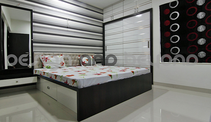 master bedroom Modern houses by Design and beyond Modern