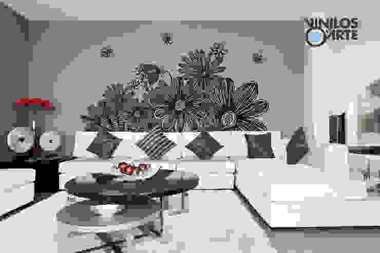 Modern Oturma Odası Vinilos con Arte Modern