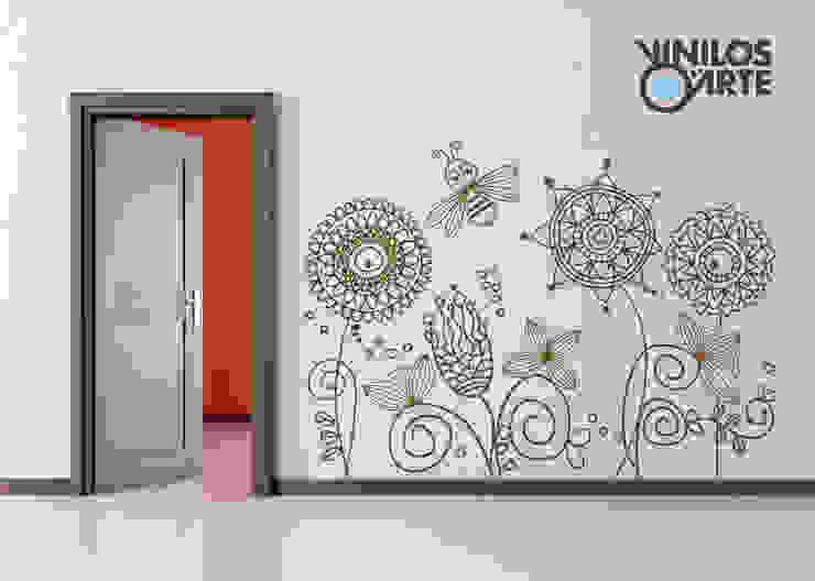 Couloir, entrée, escaliers modernes par Vinilos con Arte Moderne