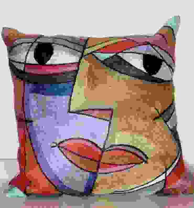 Abstract face  cushioncover: modern  by kashmir modernart gallery,Modern