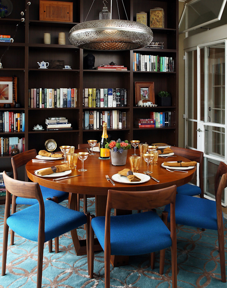 Dining room Houses by Nicole Cromwell Interior Design