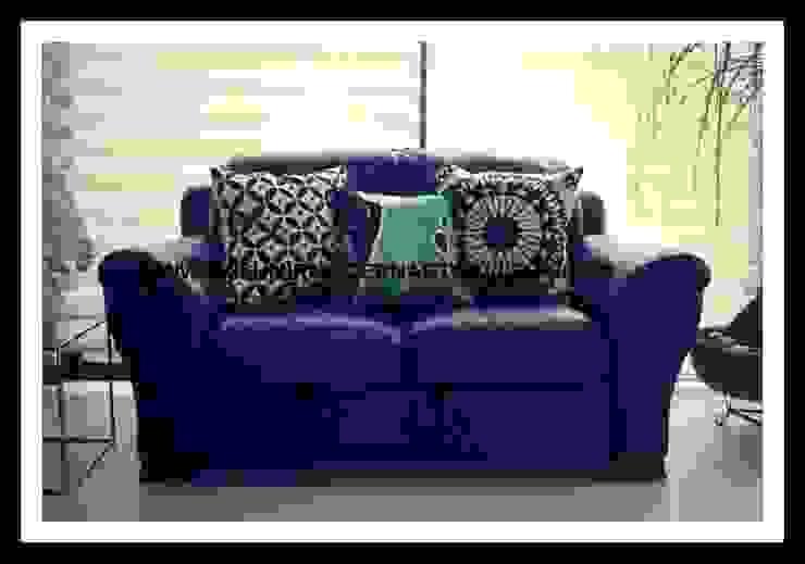 crewel embrodiered pillows:  Garden  by kashmir modernart gallery