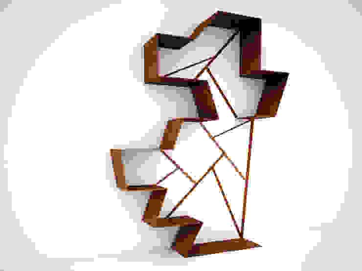 Cor-Ten libreria di Design art Moderno