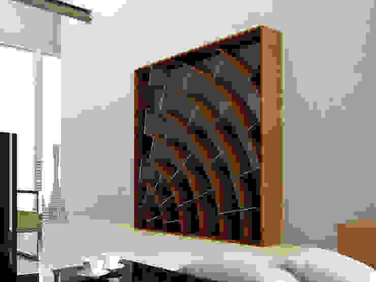 Libreria cor-ten di Design art Moderno