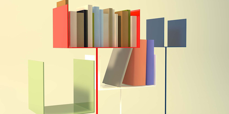 Mini lireria di Design art Minimalista