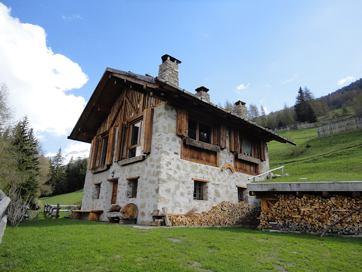 Rustic style houses by zanella architettura Rustic