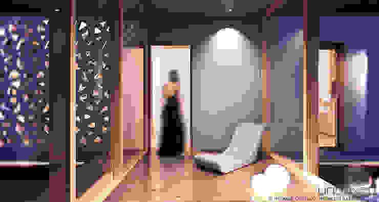 Il corridoio/ingresso vetrato Ingresso, Corridoio & Scale in stile moderno di Barberio Colella ARC Moderno