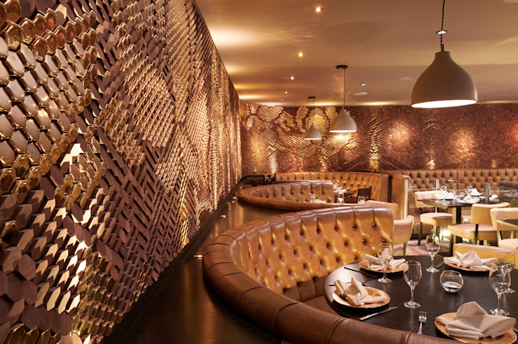 Sukhothai Restaurant Modern commercial spaces by Giles Miller Studio Modern