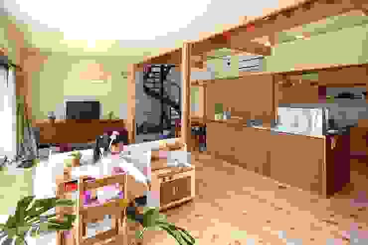 リビング 伊藤瑞貴建築設計事務所 北欧デザインの リビング