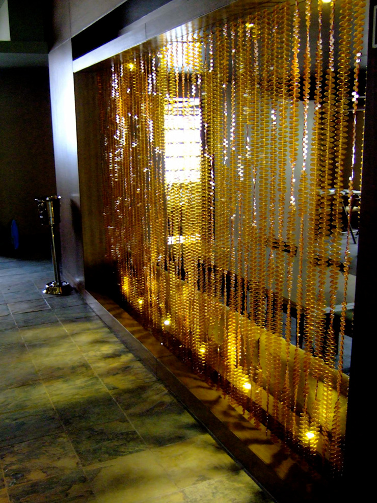 Topaz Leaf Bead Curtain Memories of a Butterfly: bead curtains/screens/installations/Hanging Sculptures ArtworkOther artistic objects