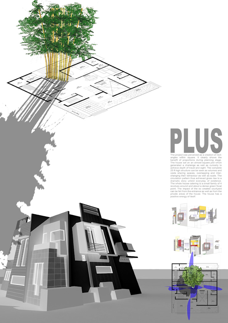 Concept sheet Modern houses by Studio An-V-Thot Architects Pvt. Ltd. Modern