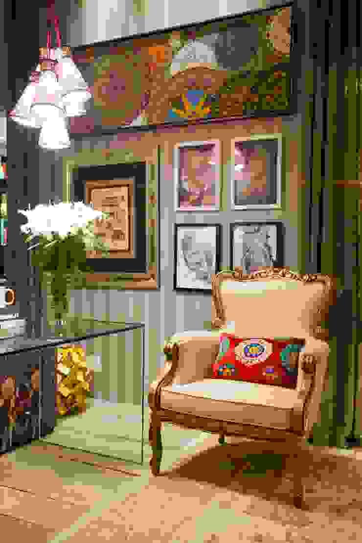Sala Íntima Mostra de Decoração Salas de estar rústicas por Orlane Santos Arquitetura Rústico