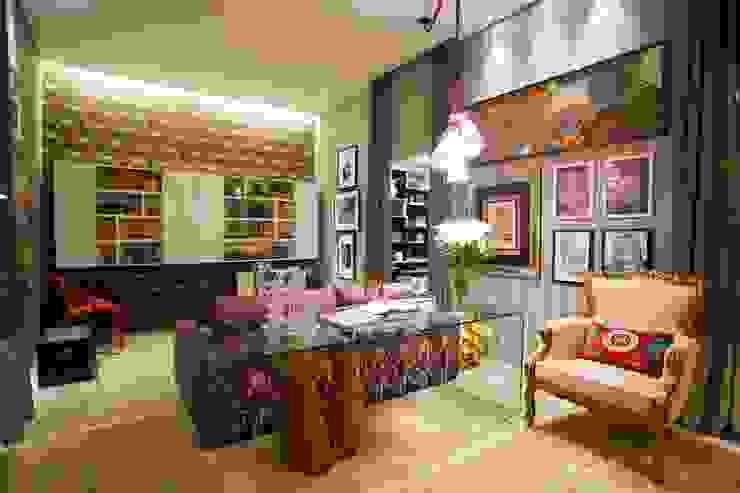 Sala Íntima Mostra de Decoração por Orlane Santos Arquitetura Rústico