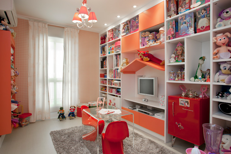 Brinquedoteca - Girl Room Quarto infantil moderno por Orlane Santos Arquitetura Moderno