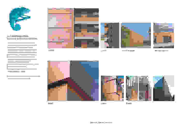 Seconda pelle Complesso d'uffici moderni di Studio BASE Moderno