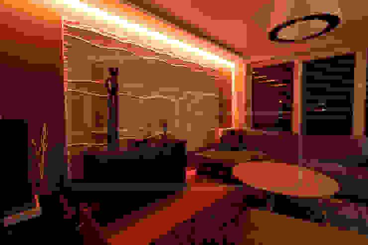 Гостиная в стиле модерн от Loft Design System Deutschland - Wandpaneele aus Bayern Модерн