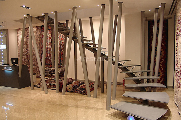 Art stairs: Artstairs의 현대 ,모던