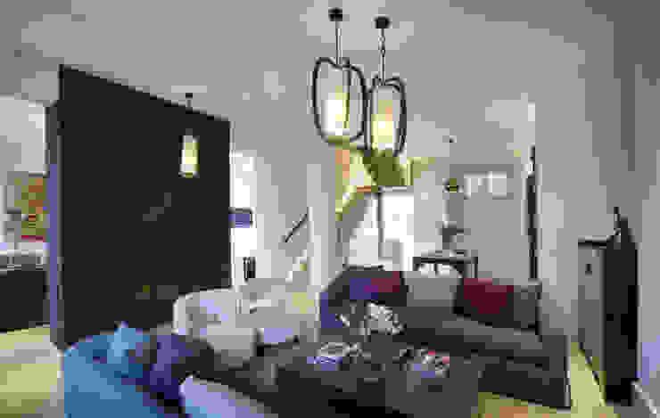 St James's Gardens, London Modern living room by Nelson Design Limited Modern