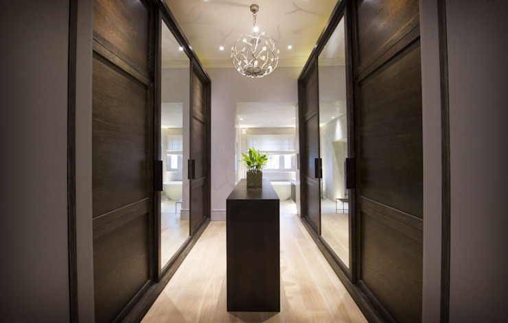 St James's Gardens, London Modern corridor, hallway & stairs by Nelson Design Limited Modern