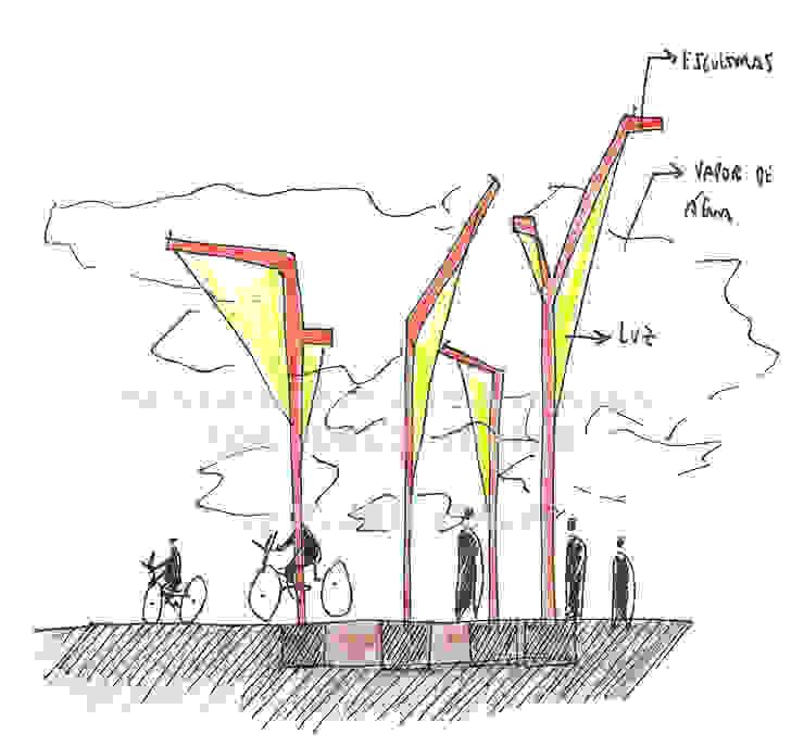 Sustainable Art and Design for public spaces por PLURIESCALA - ARQUITECTURA, PLANEAMENTO E DESIGN LDA Moderno