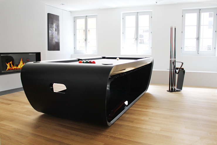 Blacklight Pool Table: modern  by Quantum Play, Modern