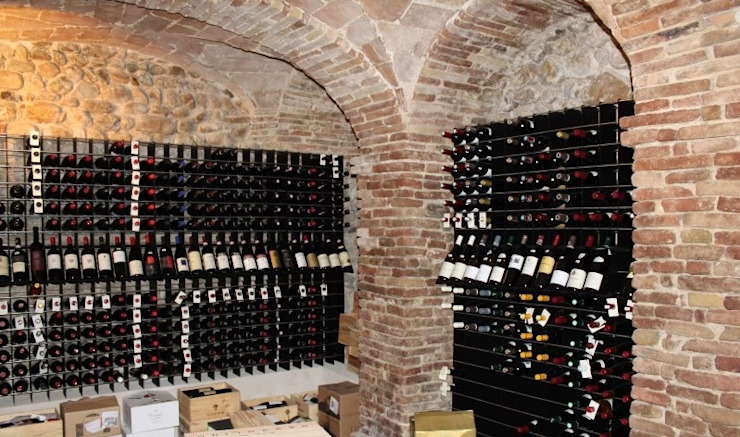 Arredo punto vendita vino con portabottiglie moderno Esigo 2 Net di Esigo SRL Moderno Ferro / Acciaio