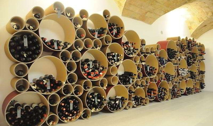 Esigo 8 cardboard wine rack Esigo SRL Office spaces & stores Paper