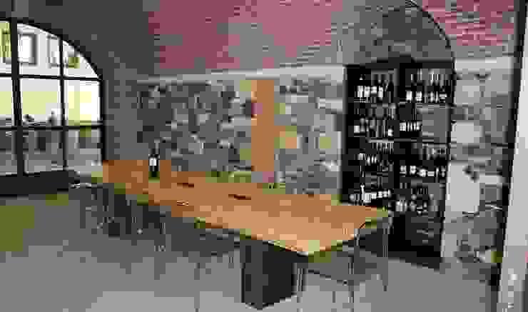 Tavolo Esigo per sala di degustazione vini di Esigo SRL Moderno Legno Effetto legno