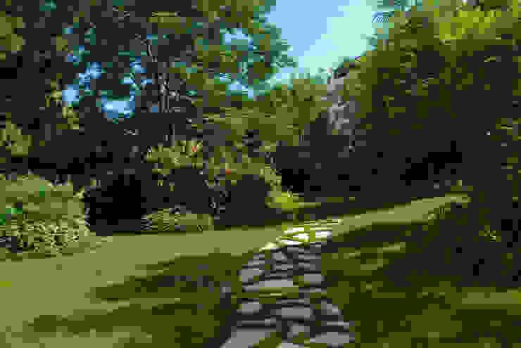 Privacy ritrovata nel giardino di città di Pellegrini Giardini Moderno