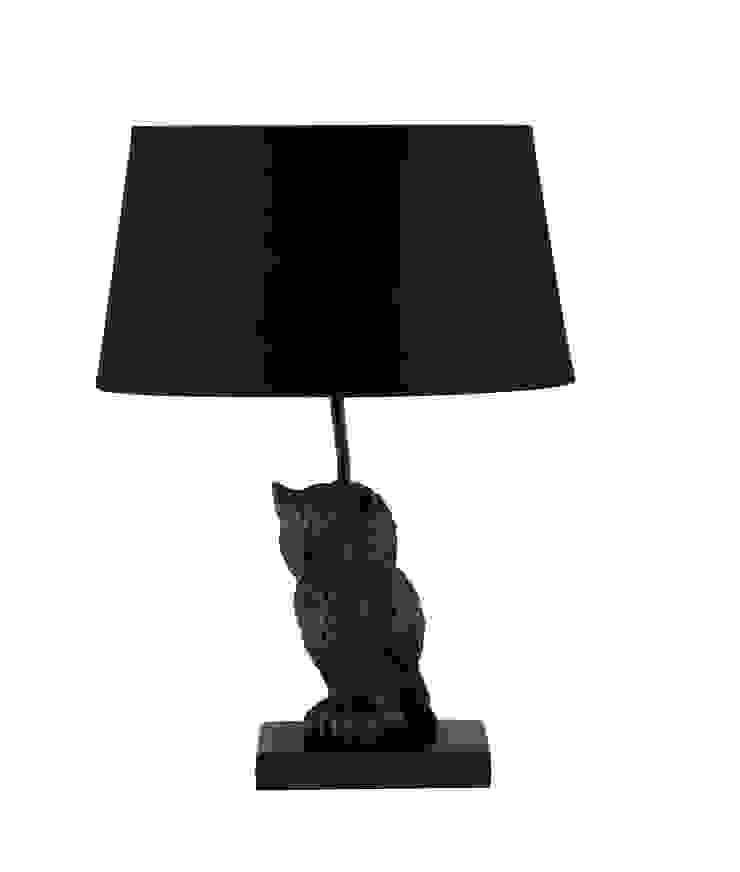 Animal Table Lamp Owl Black par Muno
