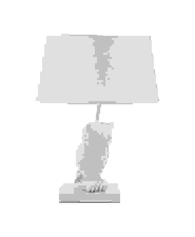 Animal Table Lamp Owl Left White par Muno