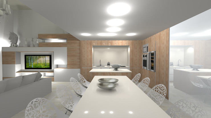 Modern Houses by AZ Createur d'intérieur Modern