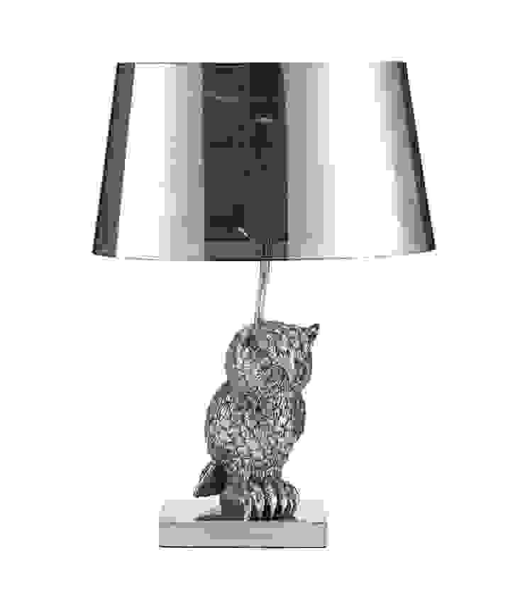 Animal Table Lamp Owl Left Chrome par Muno