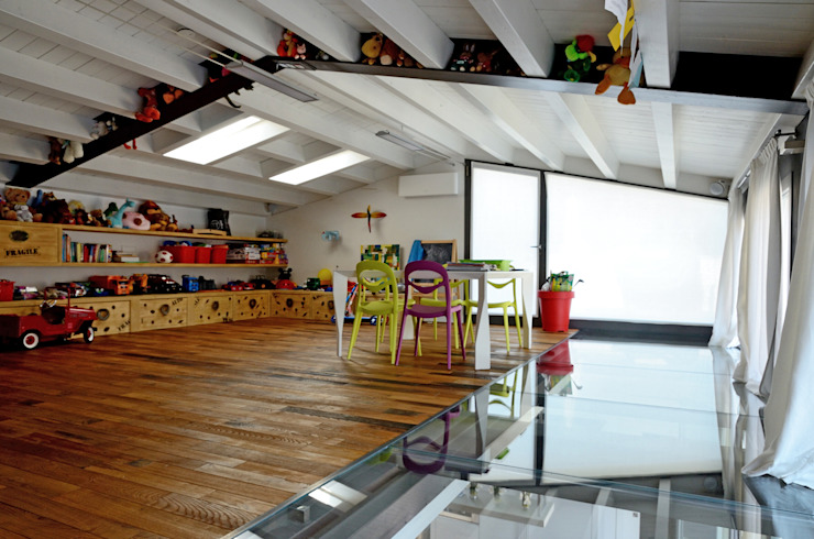 Industrial style nursery/kids room by Massimo Adiansi Architetto Industrial