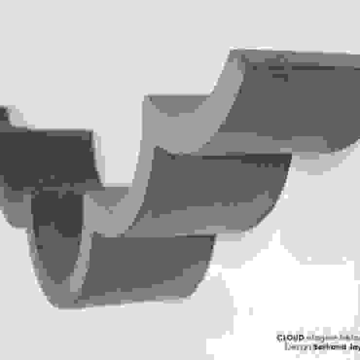 CLOUD Etagère béton pour papier toilette par Lyon beton