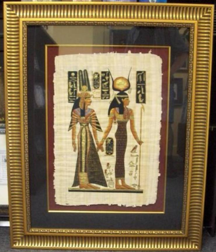 ORIGINAL EGYPTIAN PAPYRUS  PAINTINGS: asian  by SHEEVIA  INTERIOR CONCEPTS,Asian