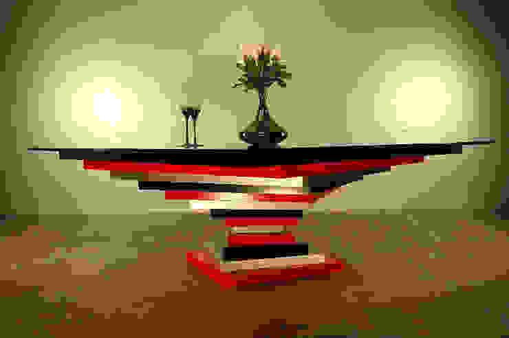 Table basse Spirale carrée par Design Bois Creation Moderne