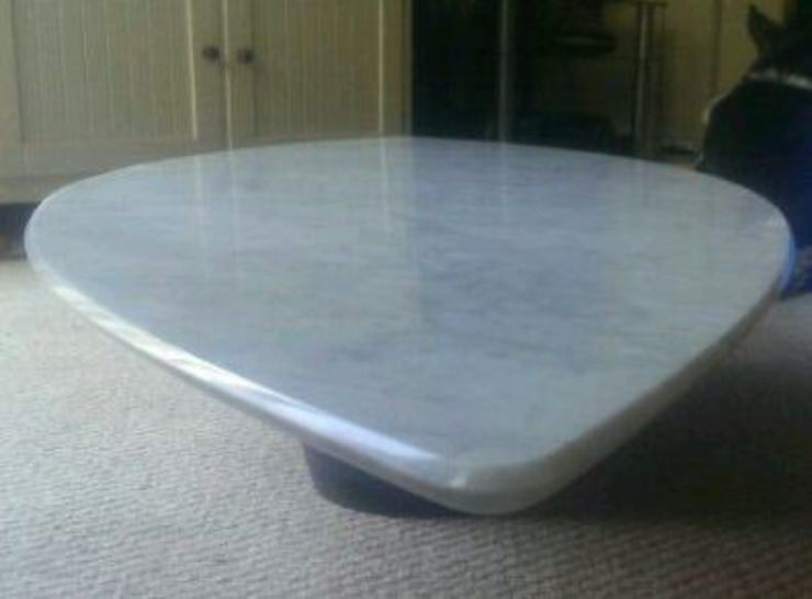 Carrara Marble Surf Coffee Table by Stone Smart