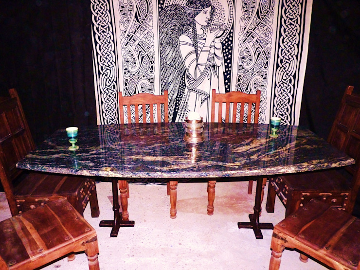 Cosmic Black Dining Table by Stone Smart