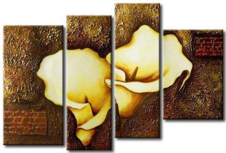 Split paintings for staircase walls and larger living room walls by SHEEVIA INTERIOR CONCEPTS