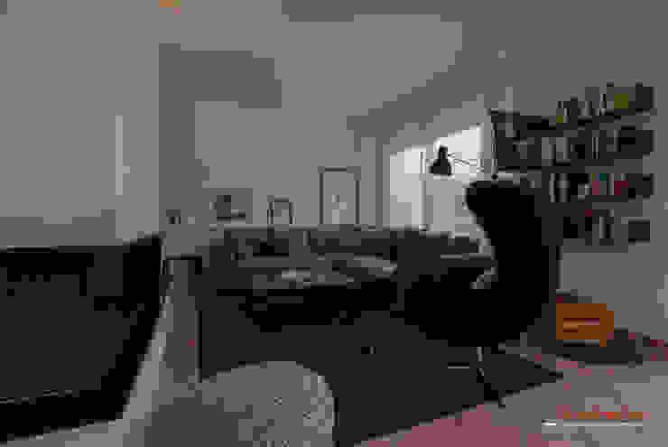 Salón Casas de estilo moderno de Trestrastos Moderno