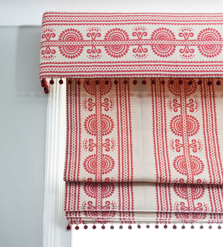 Kurpie :: Fabric :: Red: eclectic  by Julia Brendel Limited, Eclectic