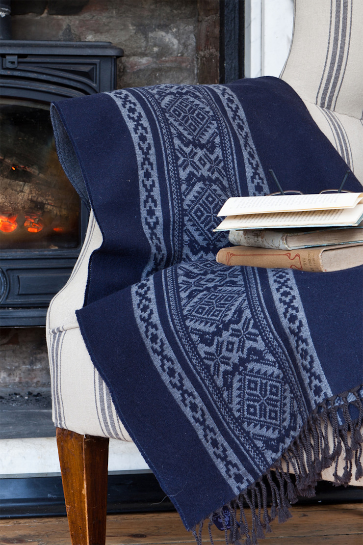 Hungarica :: Throw :: Navy / Mouse  : classic  by Julia Brendel Limited, Classic