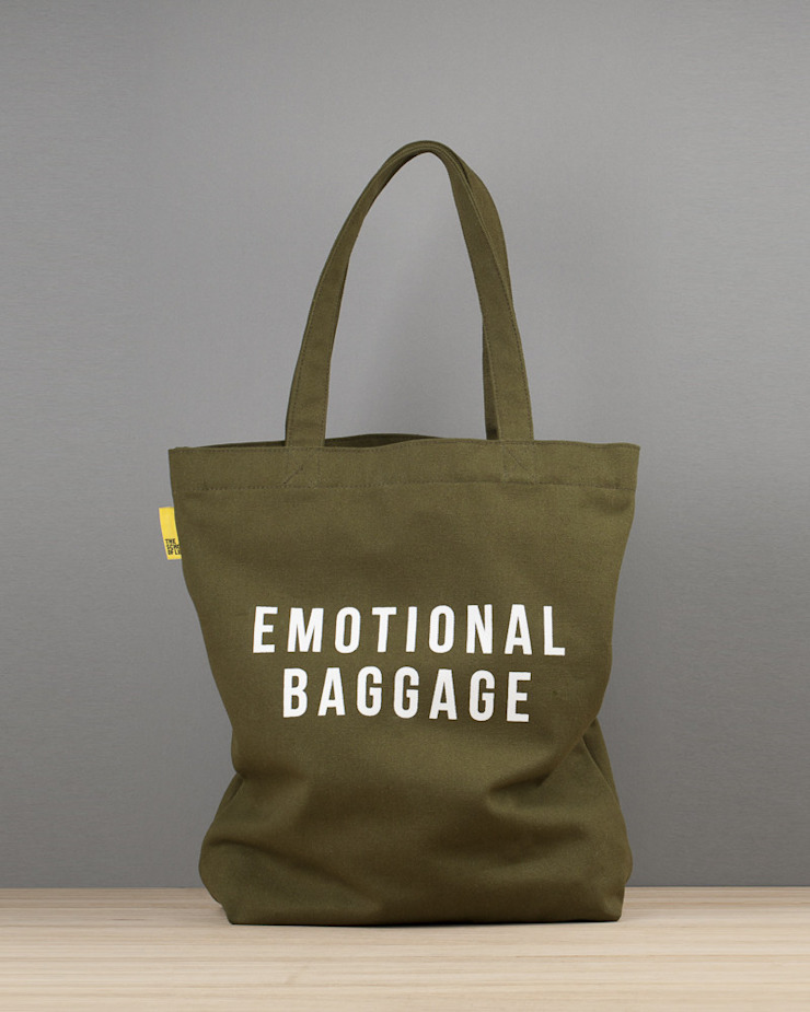 Emotional baggage canvas tote An Artful Life Dressing roomAccessories & decoration