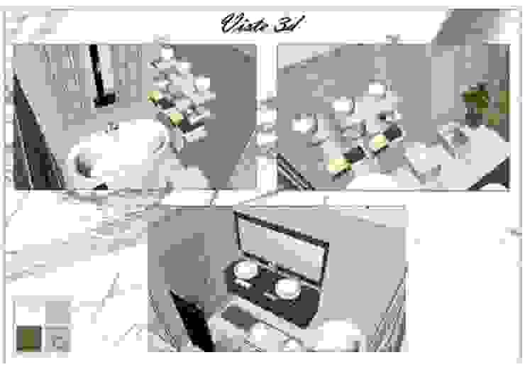 PROGETTO DI UN APPARTAMENTO A MILANO di Studio di Progettazione e Interior Design Cinzia Simonini Moderno