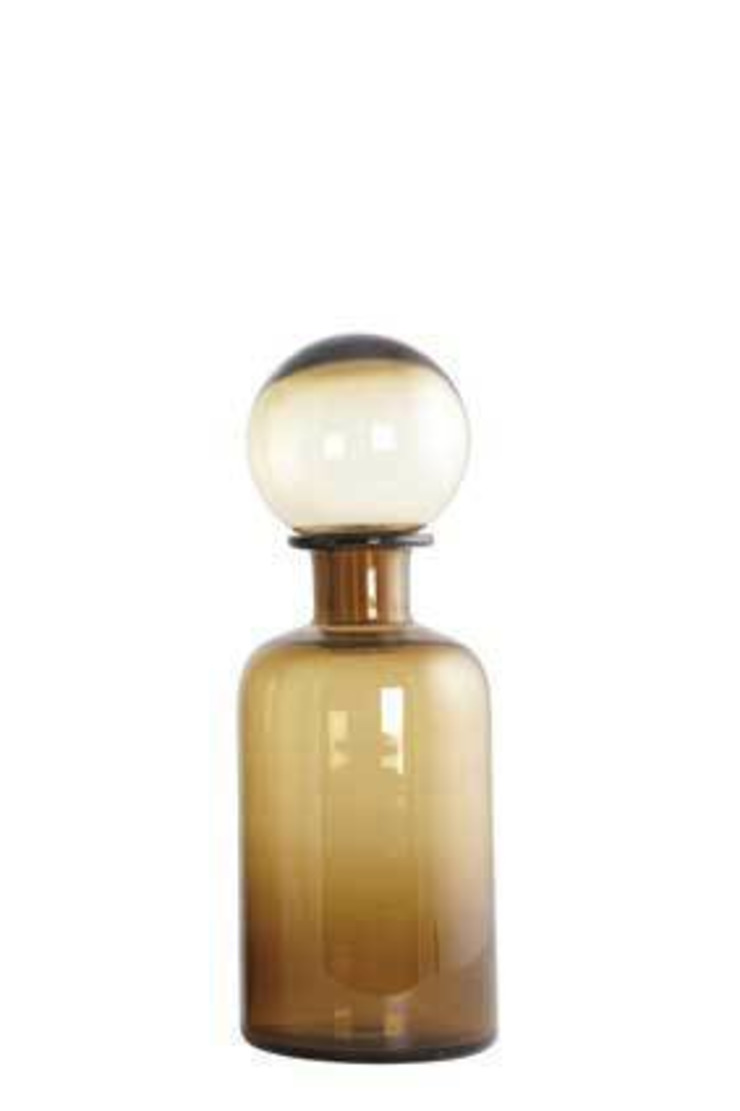 Brown glass bottle with stopper An Artful Life HouseholdAccessories & decoration