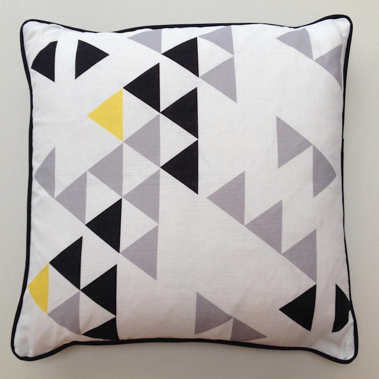 Polygon cushion by A Mind's Eye: modern  by An Artful Life, Modern